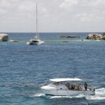 La Fidelite Boat with Cocos Island in Background